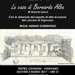 """2 marzo 2017 – """"LA CASA DI BERNARDA ALBA"""", Vigevano"""