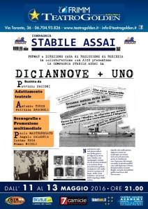 11-13 maggio DICIANNOVE+UNO a Roma