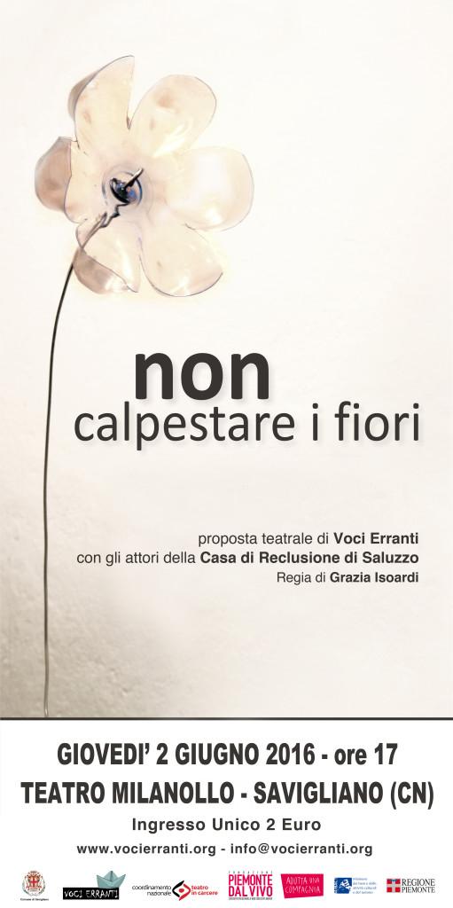 NON CALPESTARE I FIORI manifesto 2016