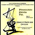 17 marzo 2018 – PINOCCHIO SENZA FILI, Pavia