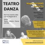 14 settembre 2018 – Termine iscrizioni per LM 65 – TEATRO MUSICA DANZA, Dams Roma Tre