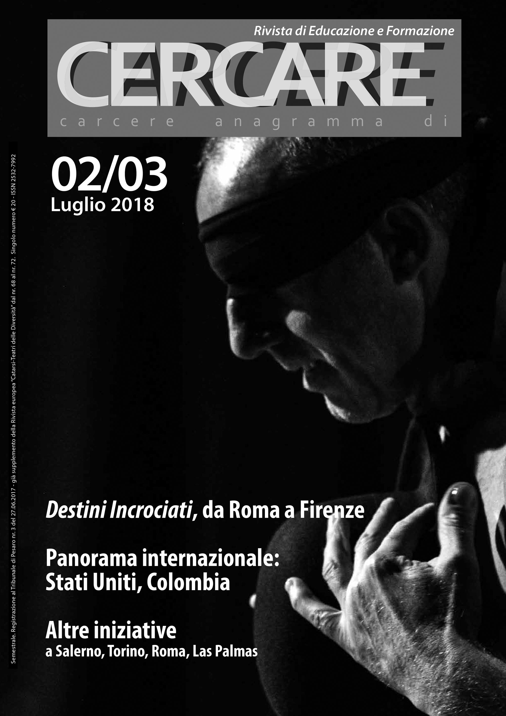 """Luglio 2018 – Rivista """"CERCARE"""" n.2/3"""