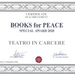 "Roma, 12 settembre 2020 ""Premio Speciale BOOKS for PEACE"" – Theatre in Prison group receives the Books for Peace 2020 Special Award"